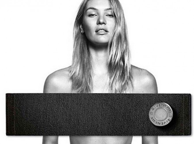 Candice Swanepoel : topless pour Givenchy Jeans !