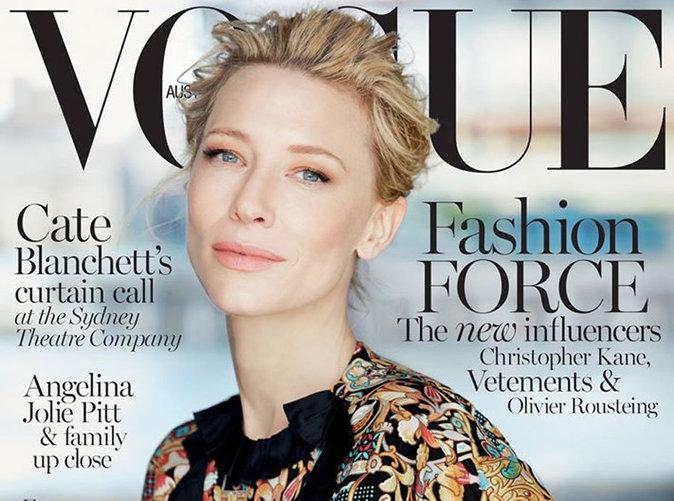 Cate Blanchett : radieuse en une de Vogue Australie !