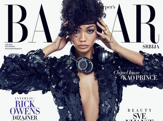 Chanel Iman : Sexy en guépière et veste à sequins, elle rend hommage à Prince dans le Harper's Bazaar Serbie !