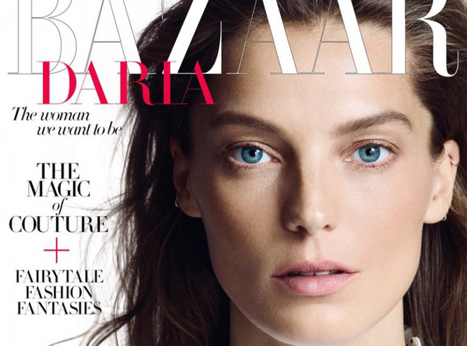 Daria Werbowy : captivante en couverture du magazine Harper's Bazaar UK !