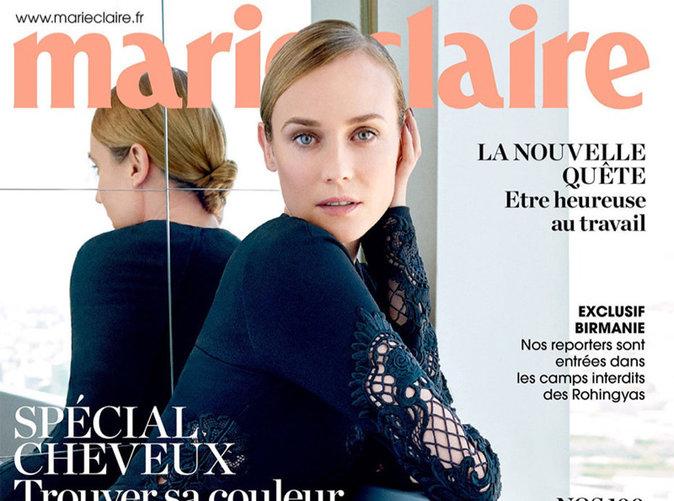Diane Kruger : beauté naturelle en une de Marie Claire !
