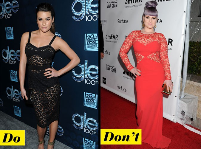 Lea Michele VS Kelly Osbourne ... Désole Kelly, la couleur est too-much !