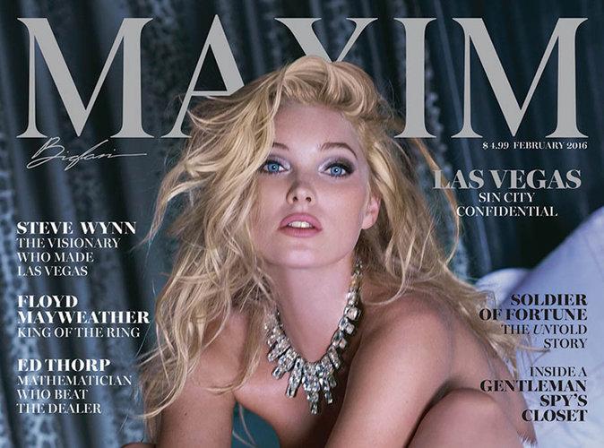 """Elsa Hosk : sexy et dénudé en couverture du magazine Maxim : """"J'aime l'adrénaline"""" !"""