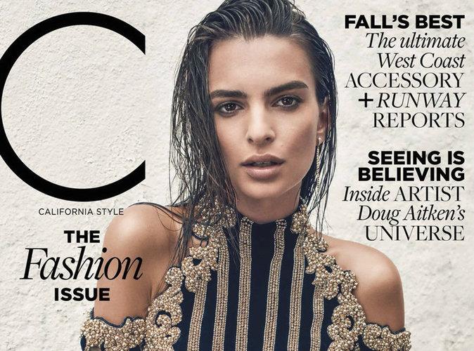 Emily Ratajkowski : beauté renversante en couverture de C Magazine