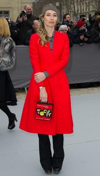 Alexandra Golovanoff chez Dior - Fashion week automne-hiver 2013/14