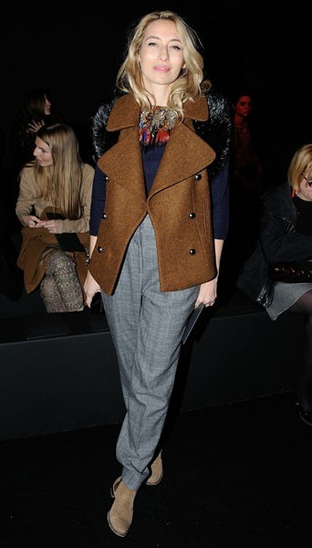 Alexandra Golovanoff chez Zadig et Voltaire - Fashion week automne-hiver 2013/14