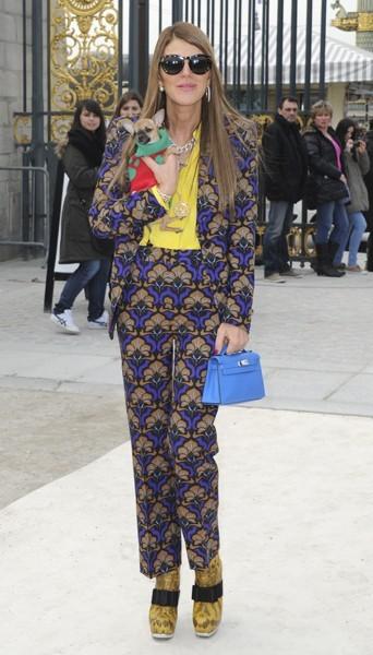 Anna Dello Russo chez Valentino - Fashion week automne-hiver 2013/14