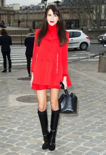 Caroline Sieber chez Louis Vuitton - Fashion week automne-hiver 2013/14
