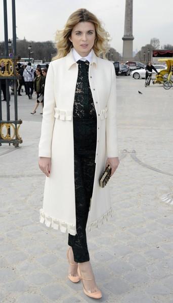 Cécile Cassel chez Valentino - Fashion week automne-hiver 2013/14