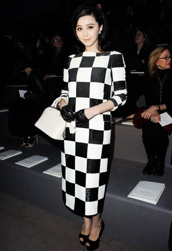 Fan Bingbing chez Louis Vuitton - Fashion week automne-hiver 2013/14