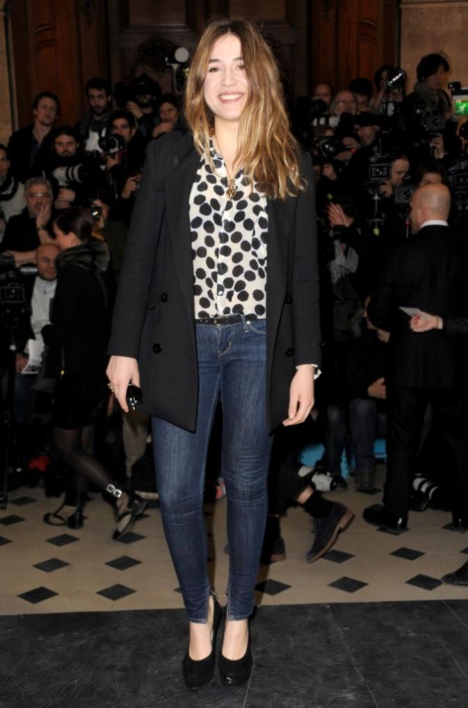 Izia Higelin chez Jean-Charles De Castelbajac - Fashion week automne-hiver 2013/14