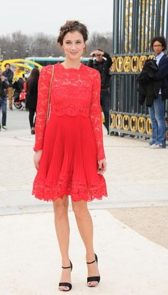 Mélanie Bernier chez Valentino - Fashion week automne-hiver 2013/14