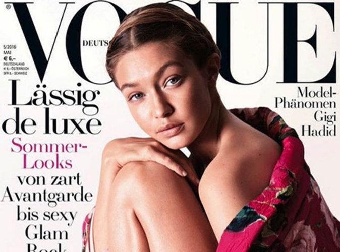 Gigi Hadid : naturelle et fleurie en couverture du Vogue Allemand