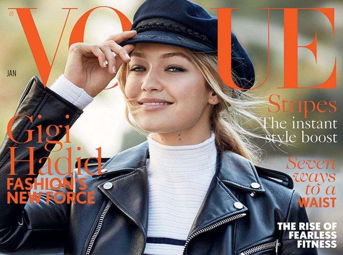 Gigi Hadid : radieuse pour sa première une de Vogue UK !