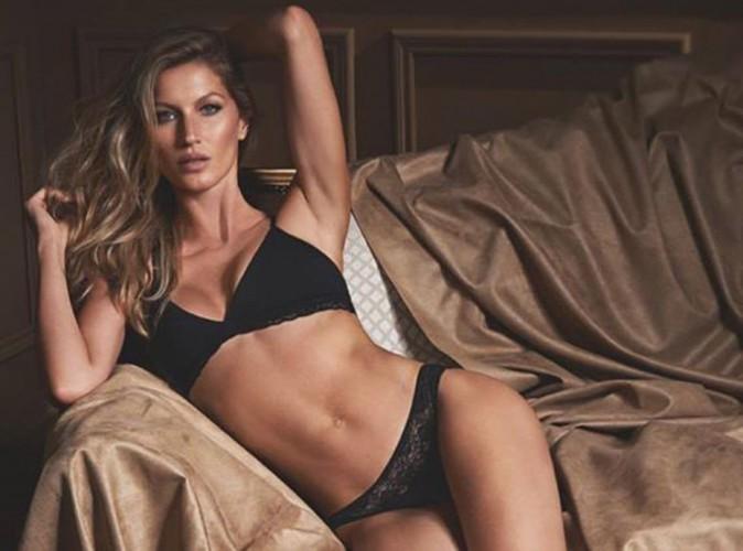 Gisele Bündchen : elle dévoile une nouvelle photo hot et sensuelle pour sa marque de lingerie !