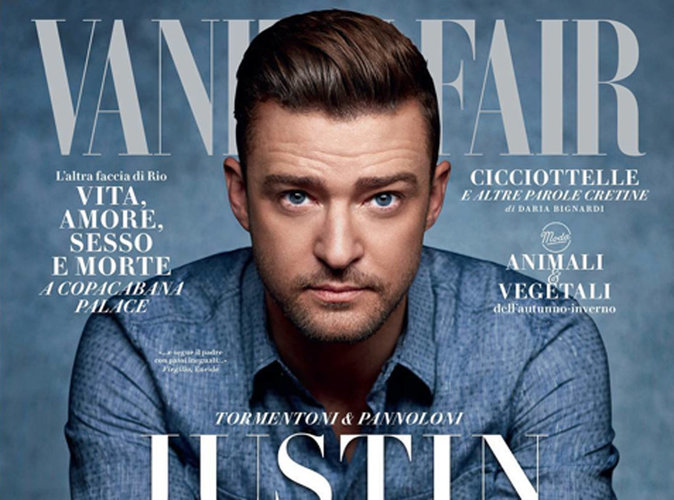 Justin Timberlake : ses yeux bleus nous envoûtent en couverture de Vanity Fair Italie !