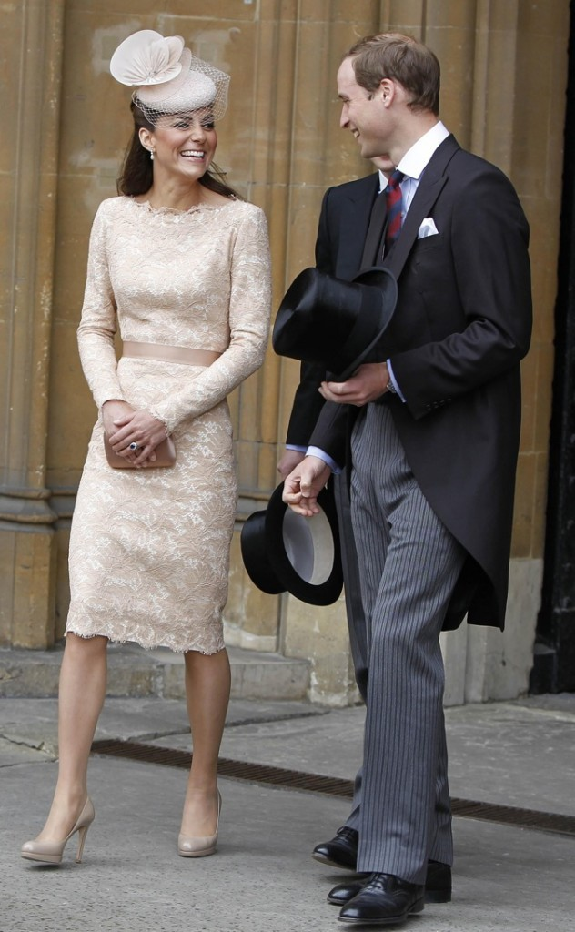 Look 100% beige pour Kate Middleton !