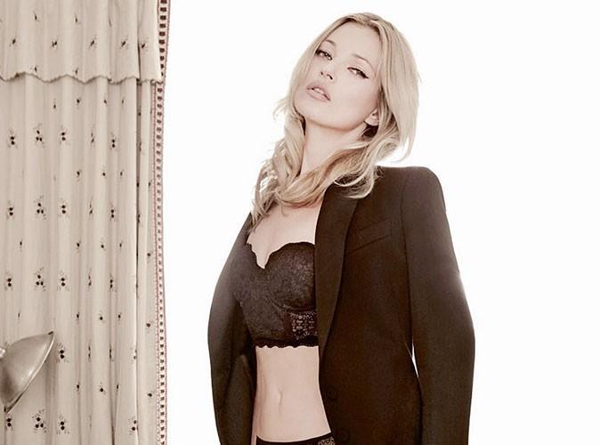 Kate Moss est l'égérie sexy de la marque de lingerie Valisère