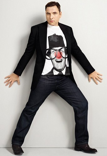 David Walliams pour le Red Nose Day de Comic Relief.