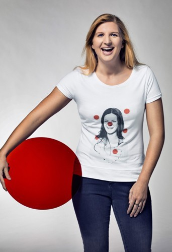 Rebbeca Adlington pour le Red Nose Day de Comic Relief.