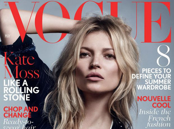 Kate Moss : nonchalante et rock pour sa 37e couverture de Vogue UK