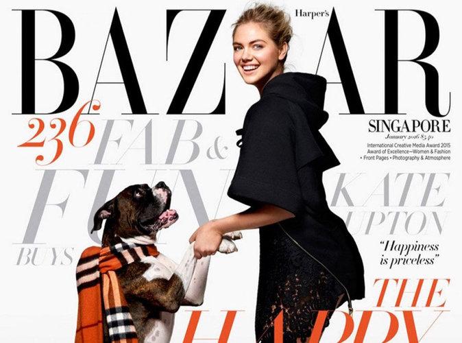 Kate Upton : Sublime et sexy en couverture de Harper's Bazaar Singapour !