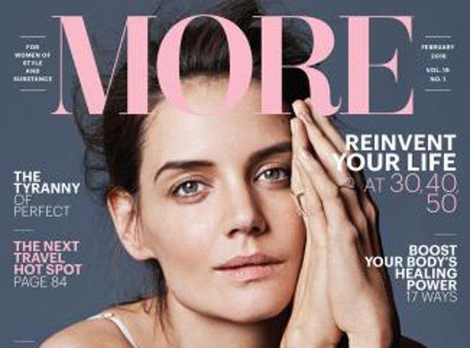 """Katie Holmes pour More Magazine : """"Continuez, et à chaque étape de votre vie, concentrez-vous sur le positif"""""""