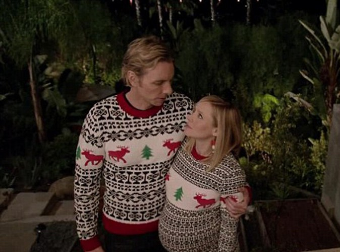 kristen bell et dax shepard un couple fan de no l pour samsung. Black Bedroom Furniture Sets. Home Design Ideas