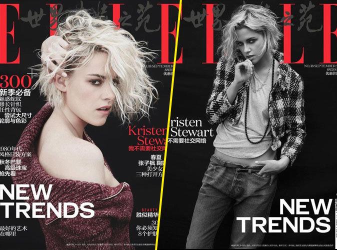 Kristen Stewart : rock et rebelle en couverture du magazine ELLE