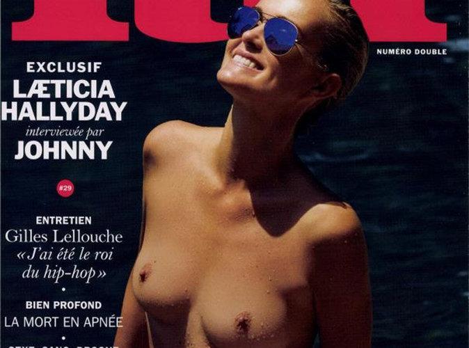 Laeticia Hallyday : Seins nus et tout sourire pour le magazine LUI !