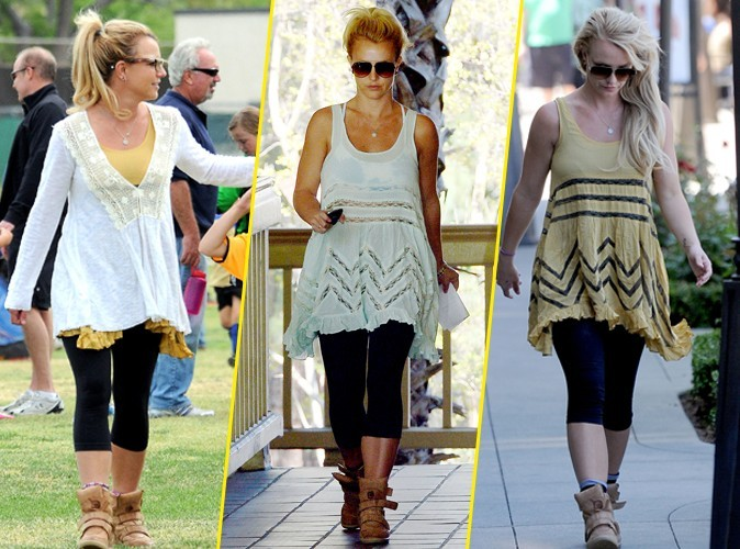 Looks de Britney Spears : sa nouvelle fashion fixette ? la tunique trapèze !