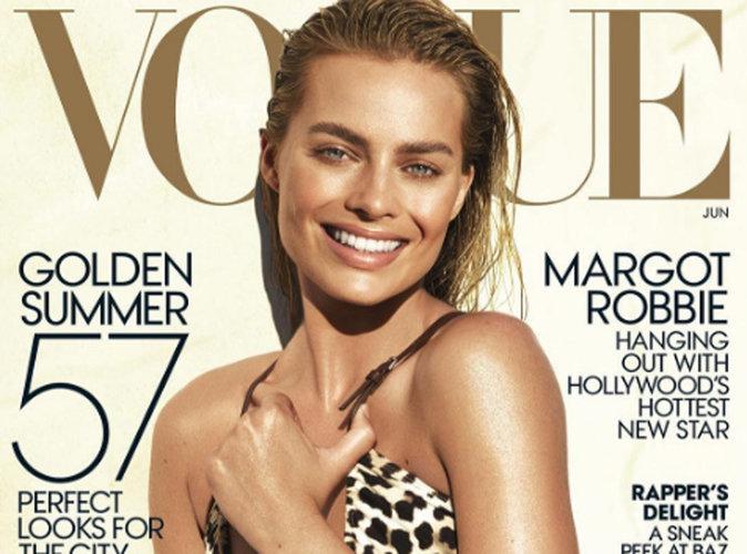 Margot Robbie : teint hâlé et maillot léopard en couverture de Vogue Us !