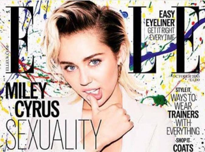 Miley Cyrus nous aguiche en Une de ELLE UK !