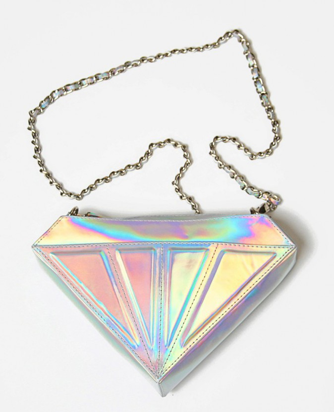 Sac diamant hologramme, Motel Rocks sur motelrocks.com, 45€