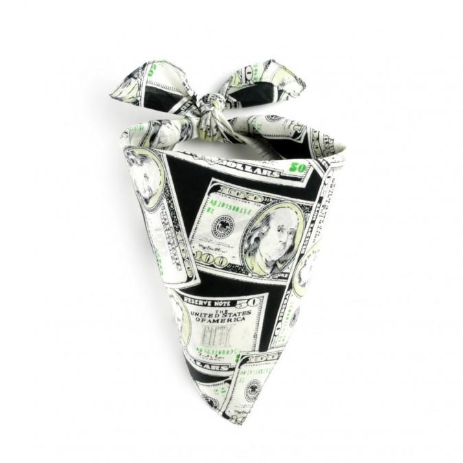 Foulard bandana dollars, allée-du-foulard.com 5,90€