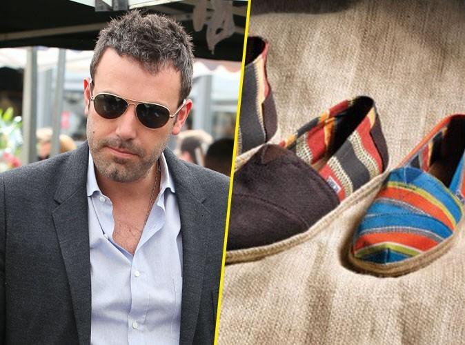 Mode : Ben Affleck : la marque de chaussures TOMS met en vente une collection pour aider son association caritative !