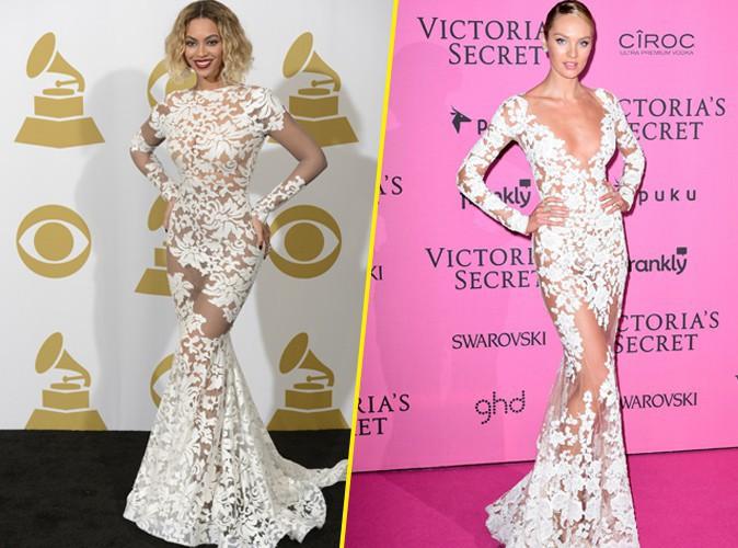 Mode : Beyoncé VS Candice Swanepoel : qui porte le mieux la robe en dentelle ?