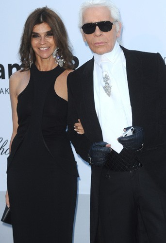 Carine Roitfeld & Karl Lagerfeld