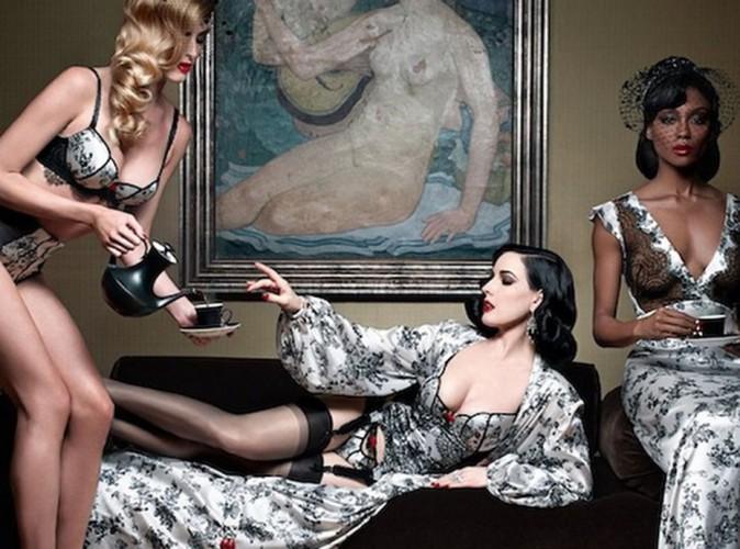 Mode : Dita Von Teese et Christian Louboutin : ensemble pour une collection de lingerie sexy et raffinée !