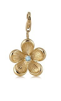 Petit breloque en or, en forme de fleur : £69.50 !