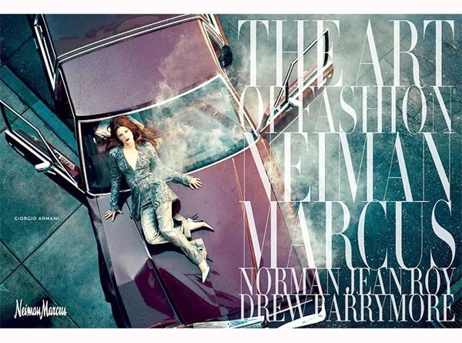 Mode : Drew Barrymore est l'égérie glamour de Neiman Marcus !
