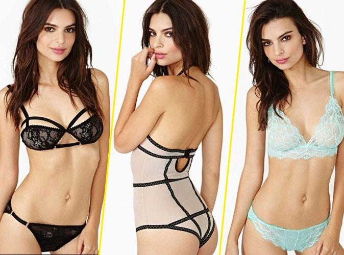 Emily Ratajkowski : une égérie lingerie toujours aussi sexy pour Nasty Gal !