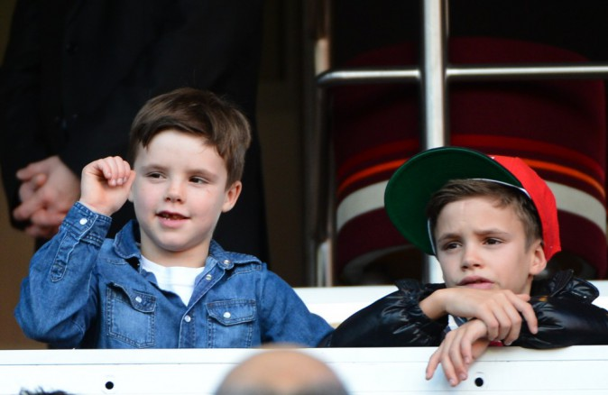 Romeo Beckham est 3ème (à droite avec la casquette)