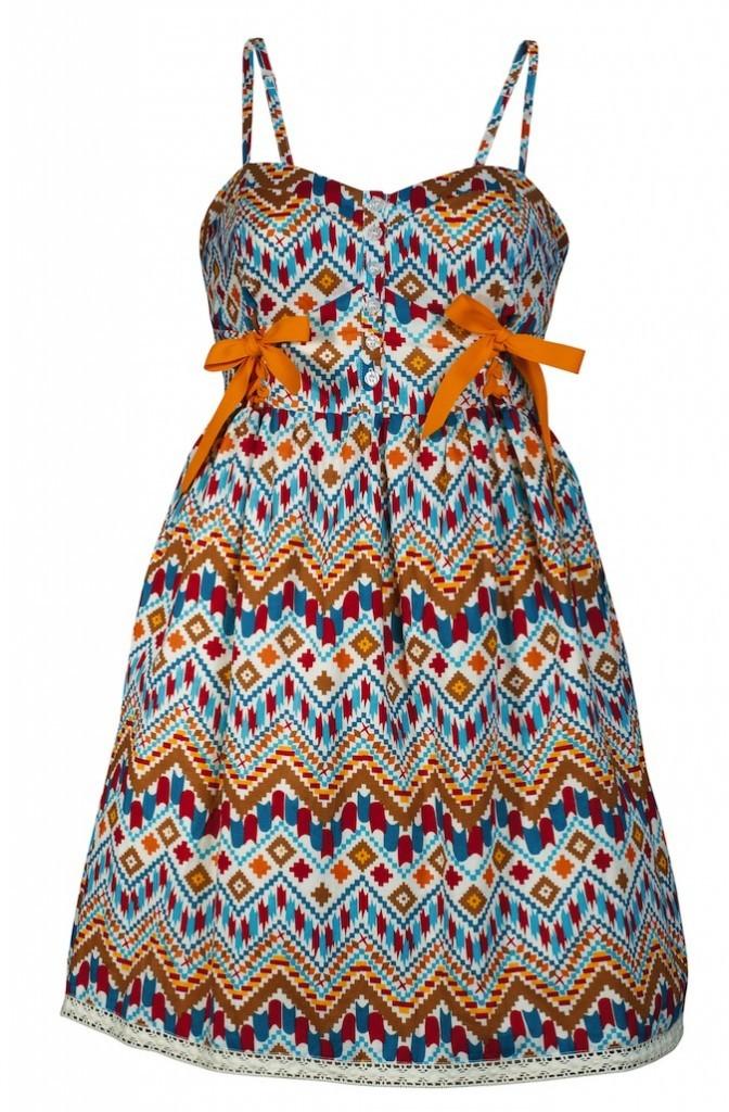 Robe imprimé ethnique, La Halle, 36,99 euros