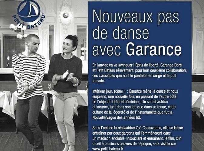 Mode : Garance Doré danse avec Petit Bateau !
