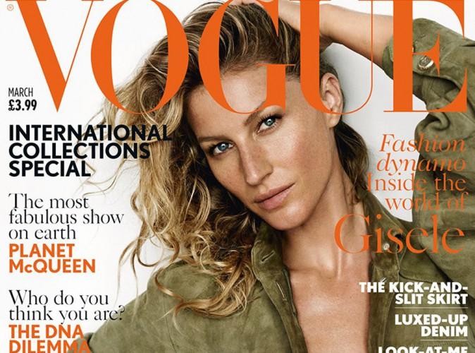 Mode : Gisele Bündchen : cover girl de Vogue UK, elle se confie sur sa relation avec Tom Brady !