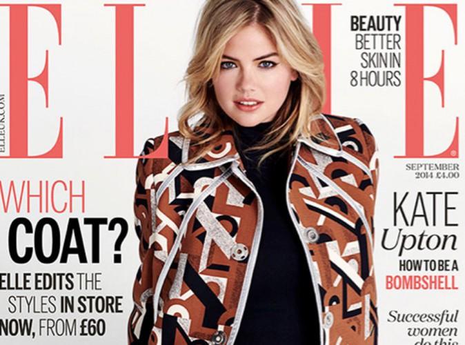 Mode : Kate Upton : fière de ses formes à la Une du magazine Elle U.K  !