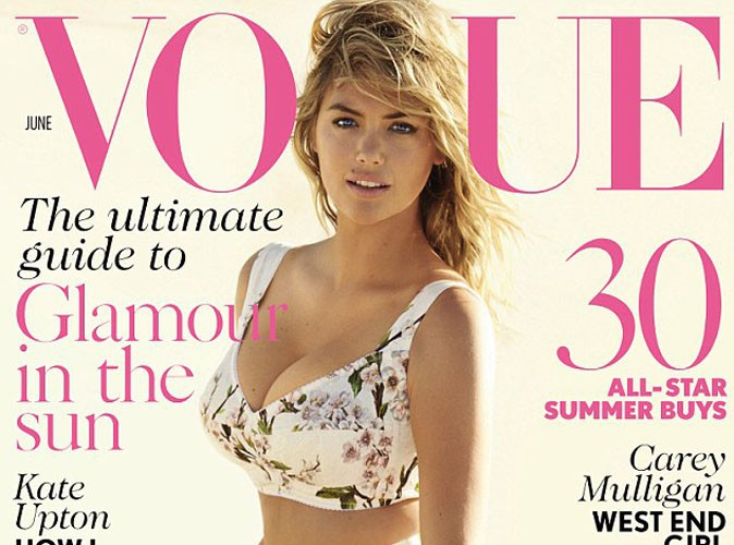 Mode : Kate Upton, une cover-girl printannière pour Vogue UK !