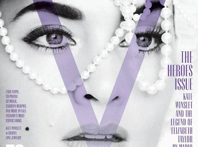 Mode : Kate Winslet dans la peau de Liz Taylor pour le magazine V !