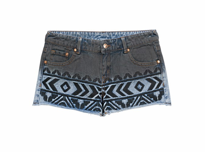 Short en denim navajo, Jennyfer, 25,99 €